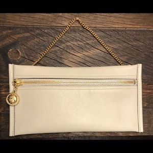 Gucci Rajah White Leather Pouch - Brand New